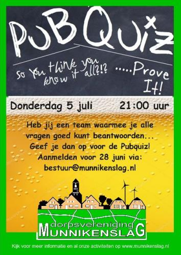 180705 poster Pubquiz